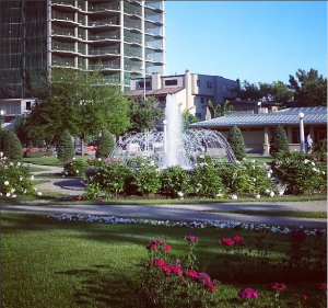 Instagram of one of the fountains at Central Memorial Park, via my @giesencreative account